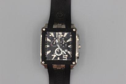 198- CERRUTI 1881  Montre en acier sur bracelet...