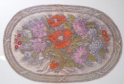Broderie encadrée Bouquet de fleurs
