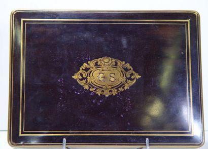 Boîte à jeu. Napoléon III avec ses jeton...