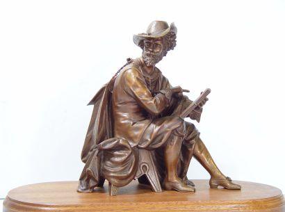 Sujet en bronze Mousquetaire Sur socle en...
