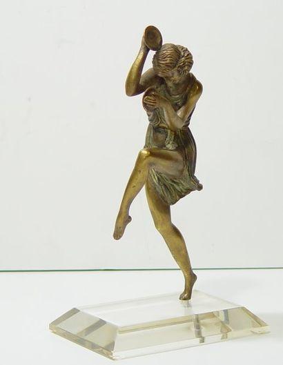 Sujet en bronze Danseuse aux cymbales Ht...