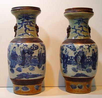 Importante paire de vases Extrême-Orient...
