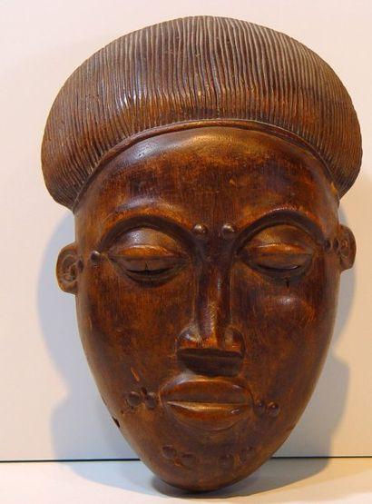 Masque africain BAOULE Ht : 34 cm