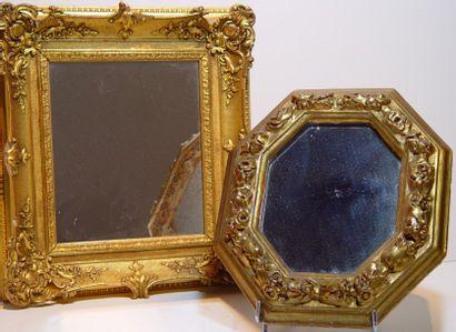 Deux miroirs cadre doré