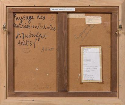 Jean Dubuffet (1901-1985) Paysage du mental (avec concrétions se chevauchant), août...