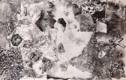 Jean Dubuffet (1901-1985) Topographie du sol, mars 1957 Assemblage d'empreintes....
