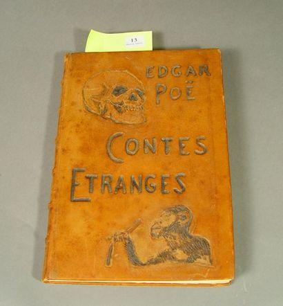 POE (Edgar Allan) . Contes étranges. Paris...