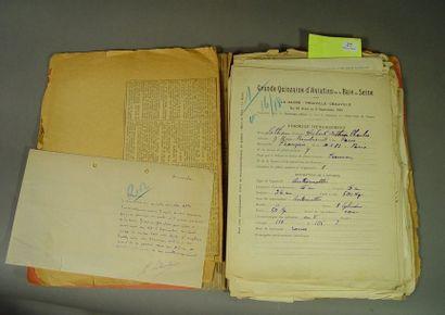 [Aviation] . Ensemble de documents manuscrits...