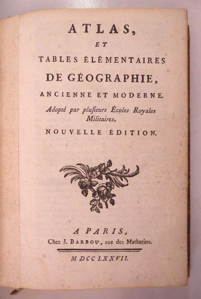 ATLAS et tables élémentaires de géographie....