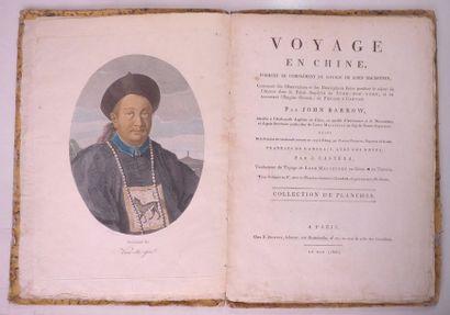 BARROW (John) Voyage en Chine. Paris, Buisson, 1805. In-4, cartonnage de l'époque,...