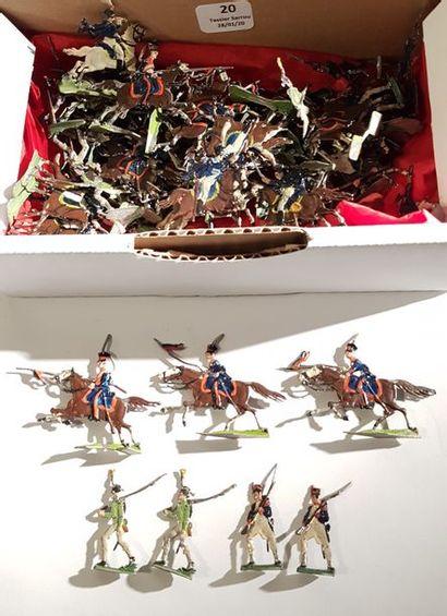 HEINRICHSEN. Ier empire. France. Vrac de diverses figurines (lanciers polonais,...