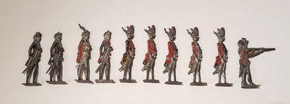 ANONYME. (Strasbourg?). Ancien Régime et Empire. Ce lot comprend une série de soldats...