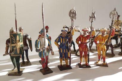 Moyen-Age. Renaissance. Ancien Régime. France. Ce lot comprend 5 soldats du Moyen-Age...