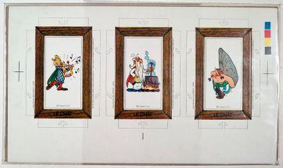 Astérix - Pub le Chat Ensemble de 3 cartes/cadres...