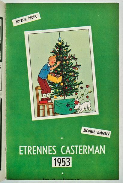 Tintin/Casterman - Etrennes 1953 Important...