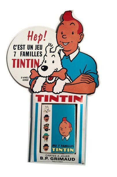 Tintin - Jeu des 7 familles + Présentoir...
