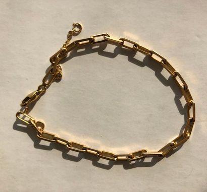 Bracelet articulé en or jaune 750 millièmes,...