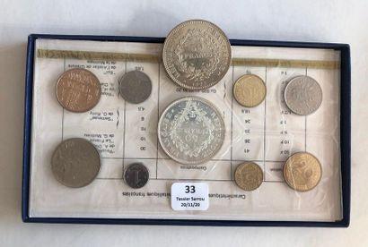 Lot de pièces comprenant: 2 pièces de 50...