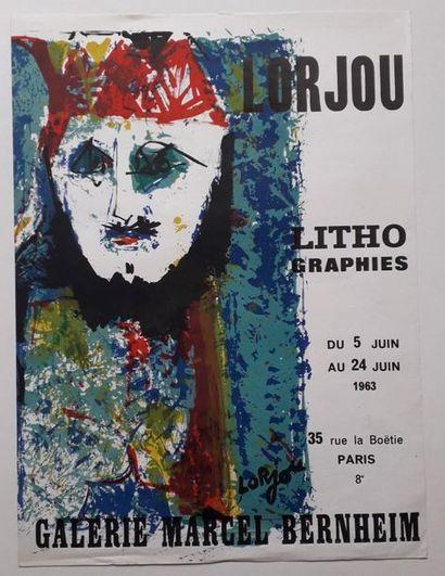 Lorjou Lithographie, Galerie Marcel Bernheim,...