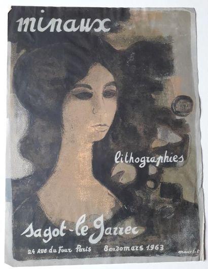 Minaux: Lithographie, Galerie Sagot–le Garrec,...