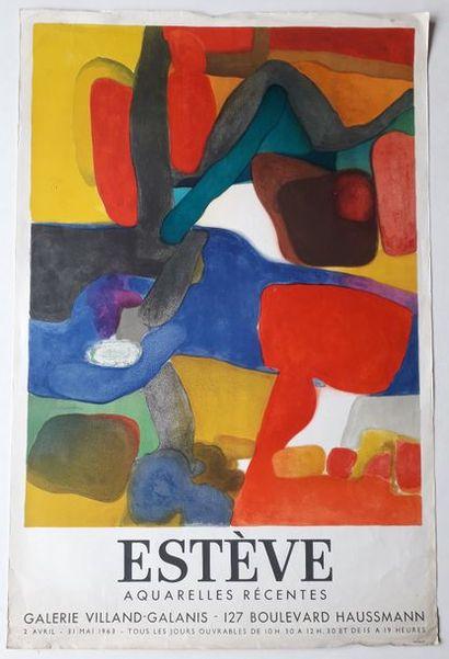 Estève, aquarelles récentes, Galerie Villand-Galanis,...