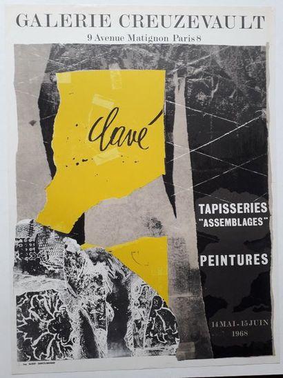 Clavé: Tapisserie «assemblage», peintures,...