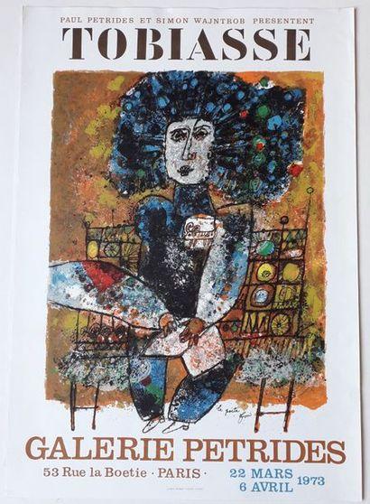 Tobiasse, Galerie Pétride, Paris, 1973; Litho Pierre Chave Vence, [75, 5*52,5 cm],...