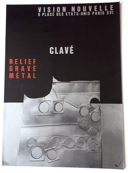 Clavé, relief gravé métal, Galerie Vision...