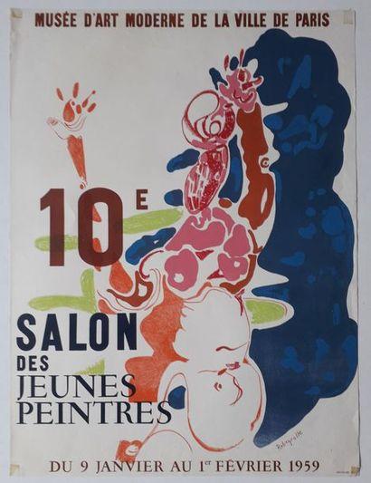 Rebeyrolle: 10 ième salon des jeunes peintres,...