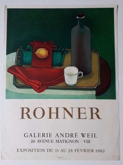 Rohner, Galerie André Weill, Paris, 1960;...