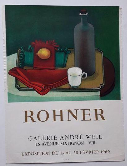 Rohner, Galerie André Weill, Paris, 1960; Imprimerie Mourlot, [64,3*49,4 cm], (importantes...