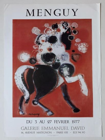 Menguy, Galerie Emmanuel David, Paris, 1977;...