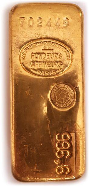1 lingot d'or numéro 702449 - Bulletin du...