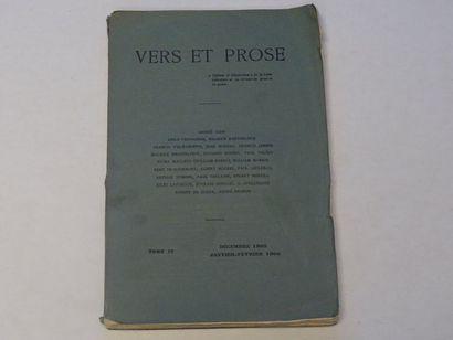 «Vers et prose» [revue tome IV], Œuvre...