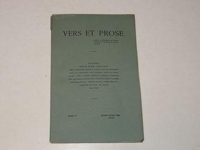 «Vers et prose» [revue tome V], Œuvre collective...