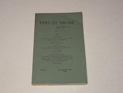 «Vers et prose» [revue tome VI], Œuvre...