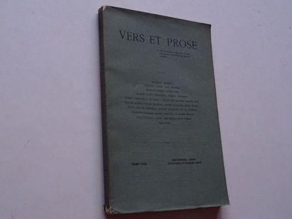 « Vers et prose» [revue tome VIII], Œuvre...