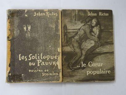 Lot de 2 ouvrages:  - «Le soliloque du...