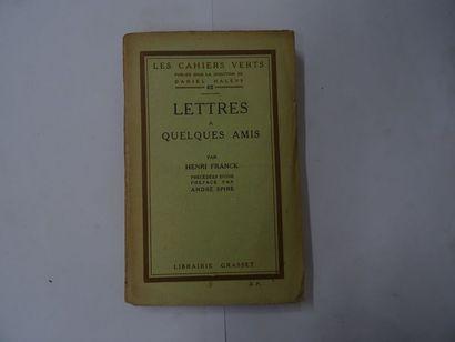 « Lettres à quelques amis» Henri Franck;...