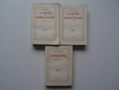 Lot de 3 ouvrages :  - «Théâtre de Maurice...