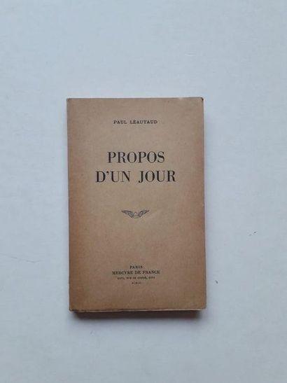 «Propos d'un jour», Paul Léautaud; Ed....
