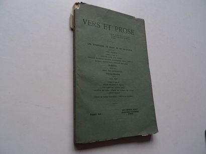 «Vers et prose » [revue tome XII], Œuvre collective sous la direction de Paul Fort;...