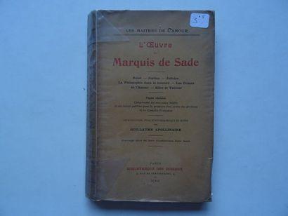 «L'œuvre du marquis de Sade» Marquis de...