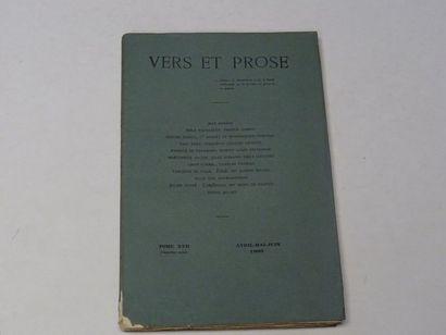 «Vers et prose» [revue tome XVII], Œuvre...