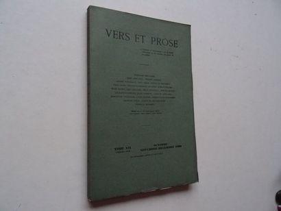 «Vers et prose» [revue tome XIX], Œuvre...