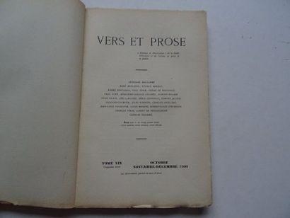 «Vers et prose» [revue tome XIX], Œuvre collective sous la direction de Paul Fort,...