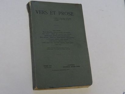 «Vers et prose» [revue tome XX], Œuvre collective sous la direction de Paul Fort;...