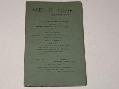 «Vers et prose» [revue tome XXII], Œuvre...
