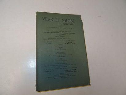 «Vers et prose» [revue tome XXVI], Œuvre...