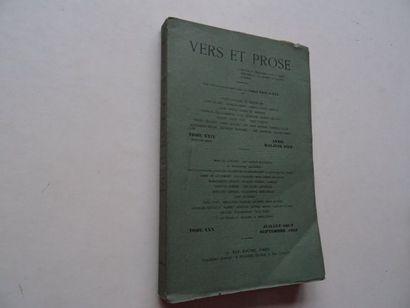 «Vers et prose» [revue tome XXX], Œuvre...